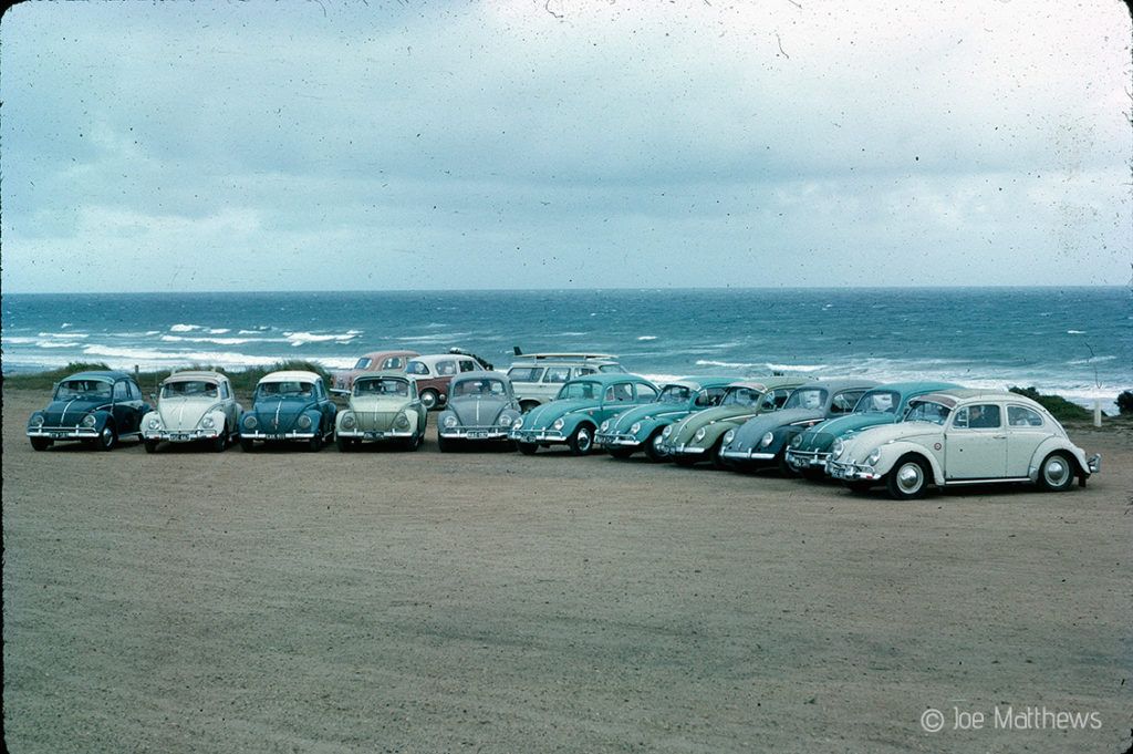 Volkswagen Beetles on beach