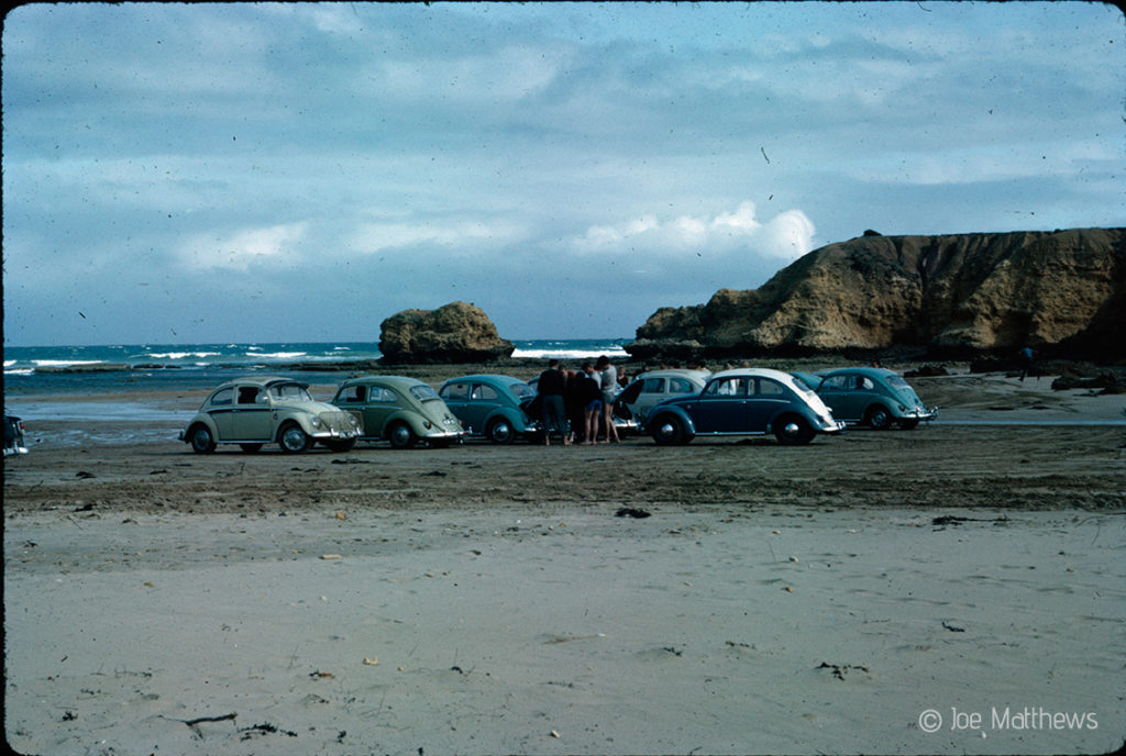 VW Beetles on beach