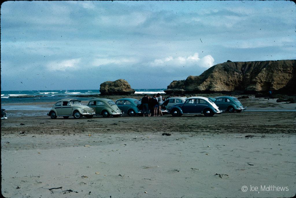 VW Beetles on beach